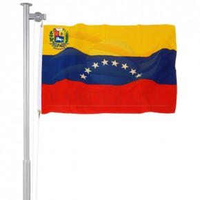 Bandeiras da Venezuela com brasão